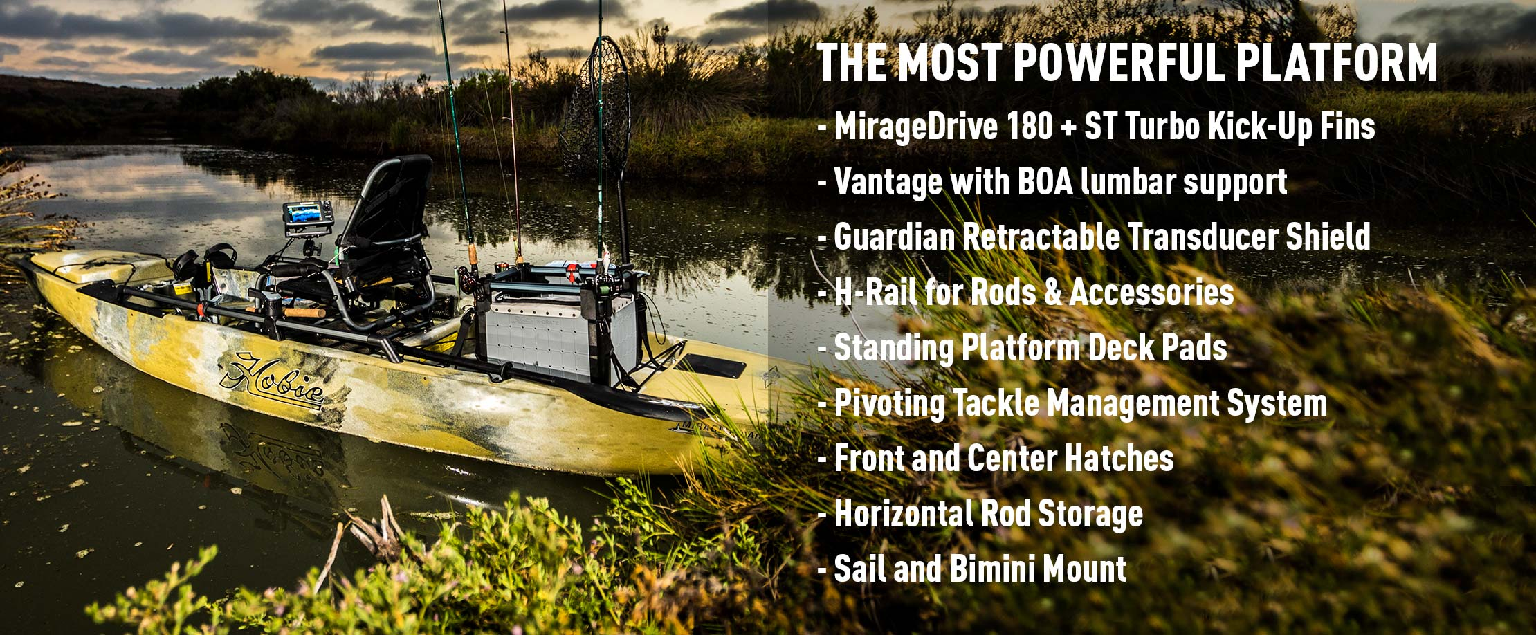 Mirage Pro Angler 14 Features
