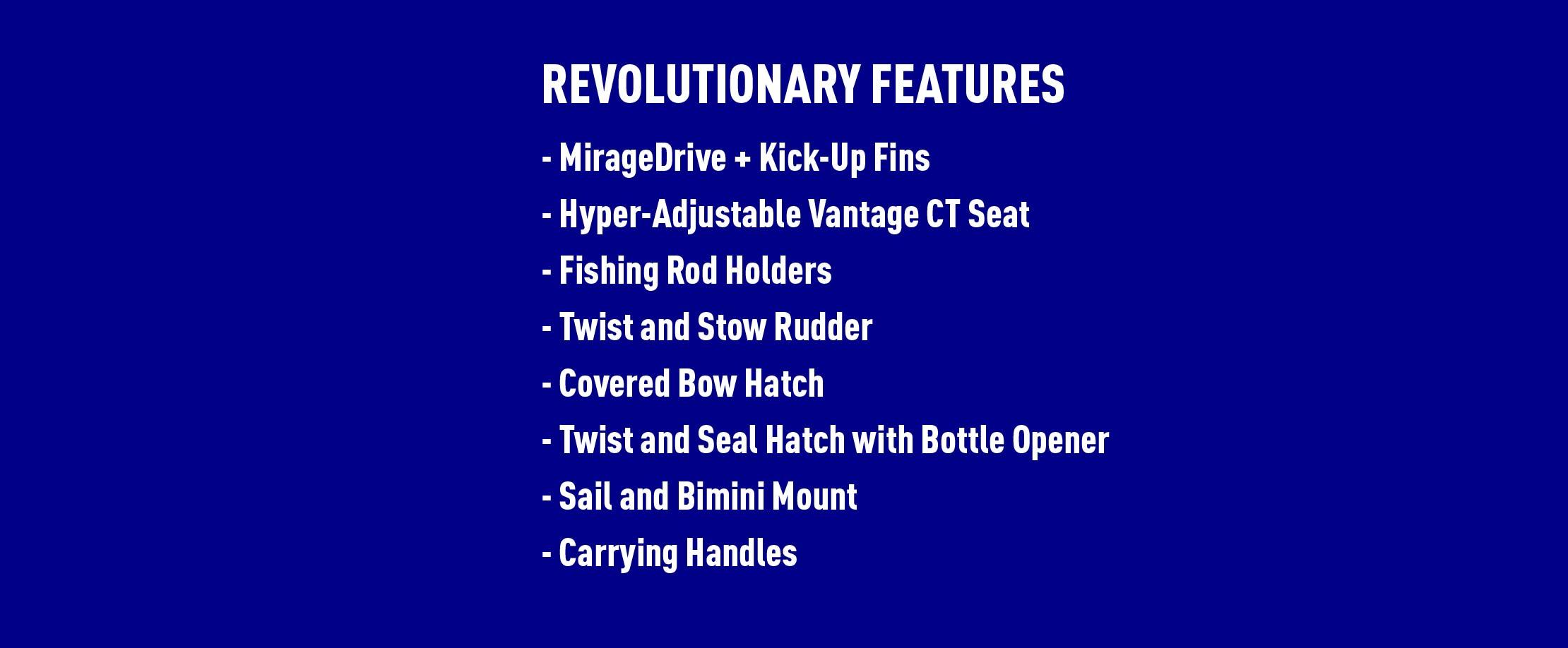 Mirage Revolution 11 Features