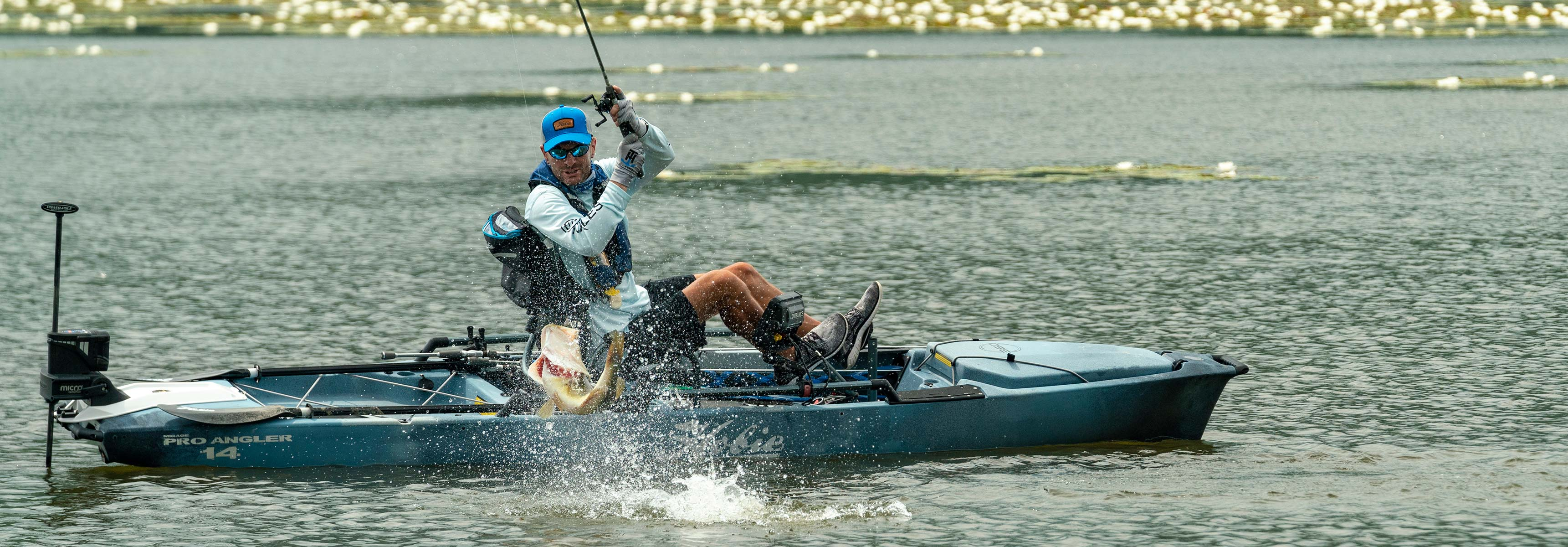 Mirage Pro Angler 14 with 360 Drive Technology mobile header image